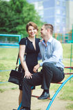 Portrait of two beautiful young lovers Royalty Free Stock Photos