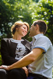Portrait of two beautiful young lovers Royalty Free Stock Photography