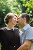 Portrait of two beautiful young lovers Royalty Free Stock Photo