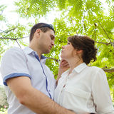 Portrait of two beautiful young lovers Royalty Free Stock Image