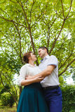 Portrait of two beautiful young lovers Stock Images