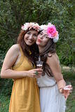 Portrait of two beautiful young women Royalty Free Stock Photo