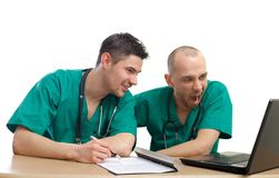 Bored and tired doctors Stock Photo