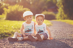Portrait of two boys Royalty Free Stock Photography