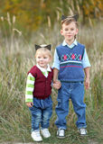 Portrait of two boys Royalty Free Stock Photo
