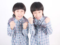 Portrait of two boys, twins Royalty Free Stock Images