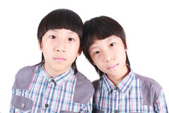Portrait of two boys, twins Stock Photography