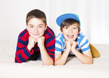 Portrait of two boys Royalty Free Stock Images