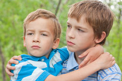 Portrait of two brothers. Royalty Free Stock Photo