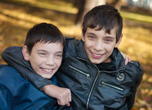 Portrait of two brothers Royalty Free Stock Photo
