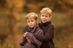 Portrait of two brothers Stock Photo