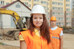 Portrait of two builders Stock Photography