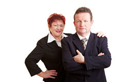 Portrait of two business people Stock Image
