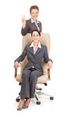 Portrait of two business women Stock Photography