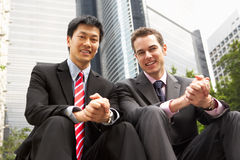 Portrait Of Two Businessmen Outside Office Stock Photos