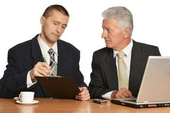 Portrait of two businessmen Stock Photo