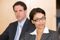 Portrait of two businesspeople Stock Photos