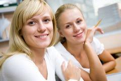 Portrait Two Businesswomans Stock Photo