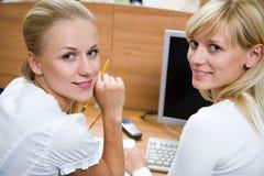 Portrait  two businesswomans Stock Image