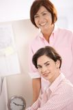 Portrait of two businesswomen Stock Images