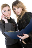 Portrait of a two businesswomen with notepad Stock Photo
