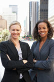 Portrait Of Two Businesswomen Outside Office Royalty Free Stock Photo