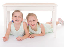 Portrait of two cheerful children Royalty Free Stock Photography
