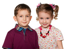 Portrait of two children Stock Photos