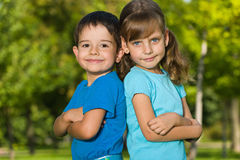 Portrait of two children royalty free stock image