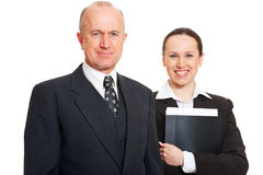 Portrait of two colleagues Royalty Free Stock Photography