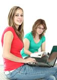 Portrait of two college students Royalty Free Stock Photography