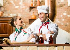 Portrait of two cooks Stock Images