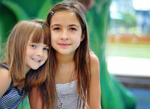 Portrait of two cute children royalty free stock images