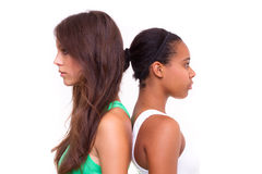 Portrait of two different nationalities girls Stock Photography