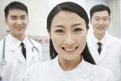 Portrait of Two Doctors and Nurse, China Stock Photography