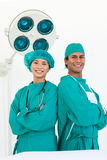Portrait of two ethnic surgeons Royalty Free Stock Photography