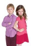Portrait of two fashion children Royalty Free Stock Photos