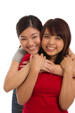 Portrait of two female friends Stock Photography