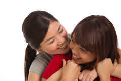 Portrait of two female friends Royalty Free Stock Images