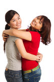 Portrait of two female friends Stock Images
