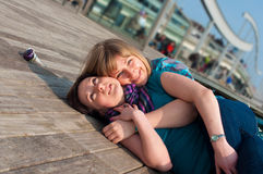 Portrait of two females Royalty Free Stock Images