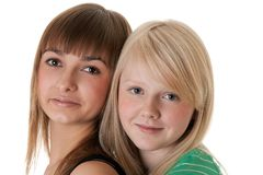 Portrait of two friends Royalty Free Stock Photo