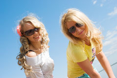 Portrait of two  girl Stock Image