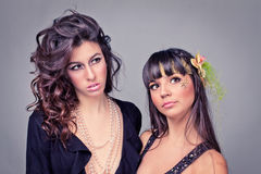 Portrait of a two girl Royalty Free Stock Image