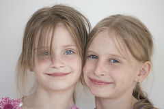 Portrait of the two girl child Stock Photo