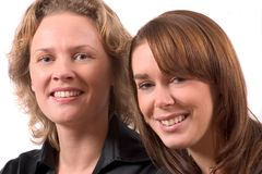Portrait of two girlfriends Royalty Free Stock Images