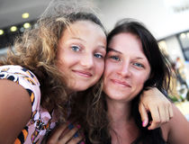 Portrait of two girls Royalty Free Stock Images