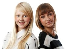 Portrait two girls Stock Photography