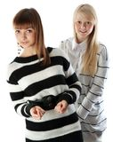 Portrait two girls Royalty Free Stock Image