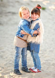 Portrait of two girls Stock Images